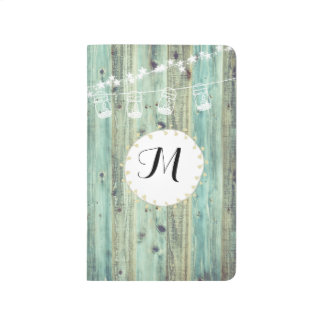 Wooden Lanterns  Bullet Journal with Monogram