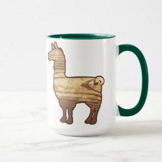 Wooden Llama Mug