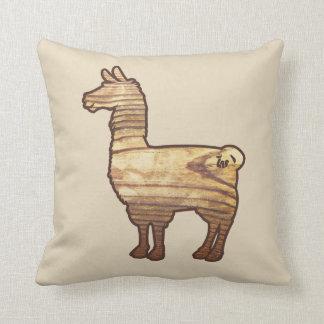 Wooden Llama Pillow