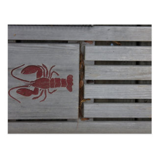 Wooden Lobster Photo Postcard