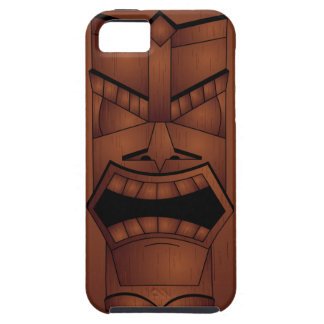 Wooden Look Tiki Mask iPhone 5 Case