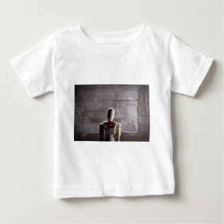 Wooden mannequin prototype of human baby T-Shirt
