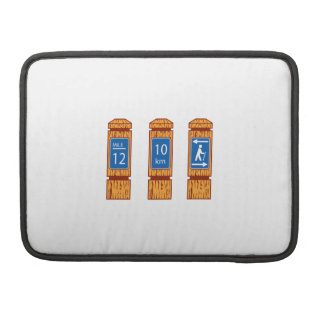 Wooden Mile Marker Signs Retro Sleeve For MacBooks