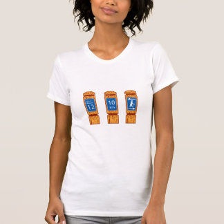 Wooden Mile Marker Signs Retro T-Shirt