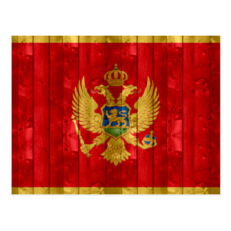 Wooden Montenegrin Flag Postcard