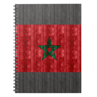 Wooden Moroccan Flag Notebook