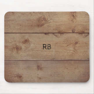 """""""Wooden"""" Mousepad with (or without) Initial(s)"""
