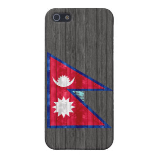 Wooden Nepalese Flag iPhone 5/5S Case