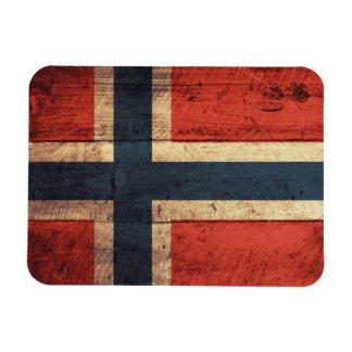 Wooden Norway Flag Magnet