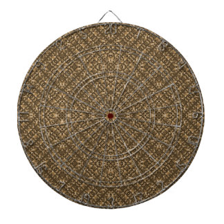 Wooden Ornamented Pattern Dartboard