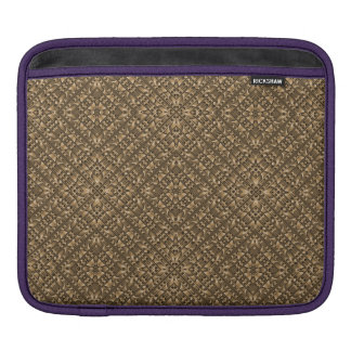 Wooden Ornamented Pattern iPad Sleeve
