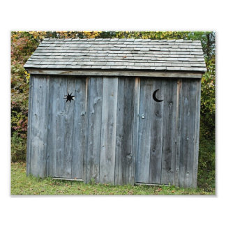 Wooden Outhouse Photo Print