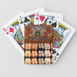 Wooden painted clogs, Holland 2 Bicycle Playing Cards