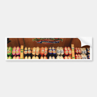 Wooden painted clogs, Holland 2 Bumper Sticker