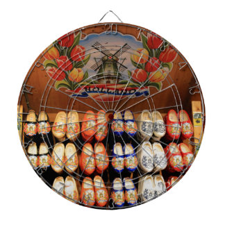 Wooden painted clogs, Holland 2 Dart Board