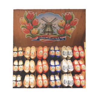 Wooden painted clogs, Holland 2 Notepad