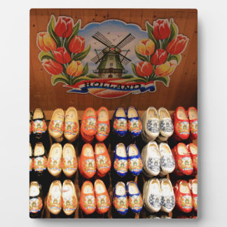 Wooden painted clogs, Holland 2 Plaque