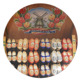 Wooden painted clogs, Holland 2 Plate
