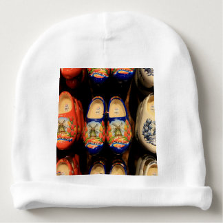 Wooden painted clogs, Holland Baby Beanie