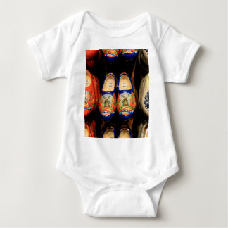 Wooden painted clogs, Holland Baby Bodysuit