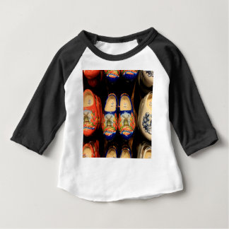 Wooden painted clogs, Holland Baby T-Shirt