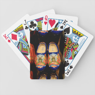 Wooden painted clogs, Holland Bicycle Playing Cards