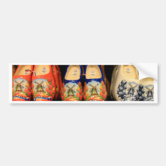 Wooden painted clogs, Holland Bumper Sticker