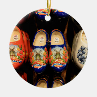Wooden painted clogs, Holland Ceramic Ornament