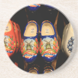 Wooden painted clogs, Holland Coaster