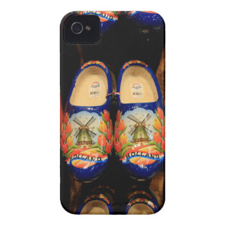 Wooden painted clogs, Holland iPhone 4 Cases