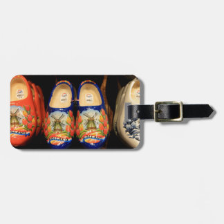 Wooden painted clogs, Holland Luggage Tag