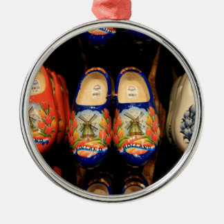 Wooden painted clogs, Holland Metal Ornament