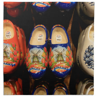 Wooden painted clogs, Holland Napkin