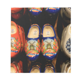 Wooden painted clogs, Holland Notepad