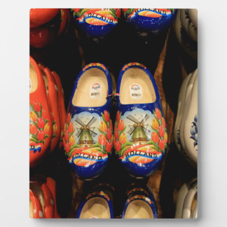 Wooden painted clogs, Holland Plaque