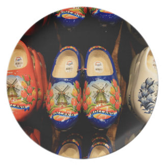 Wooden painted clogs, Holland Plate