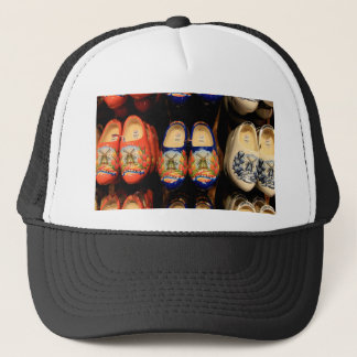 Wooden painted clogs, Holland Trucker Hat
