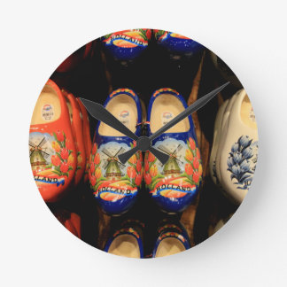 Wooden painted clogs, Holland Wall Clock