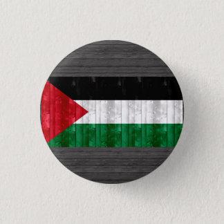 Wooden Palestinian Flag 1 Inch Round Button