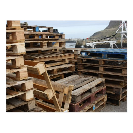 Wooden Pallets on the Dock Postcard