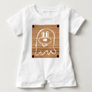 Wooden Panel  鬼 鬼 Baby Romper 1