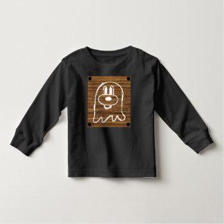 Wooden Panel 鬼 鬼 Toddler Long Sleeve T-Shirt 2