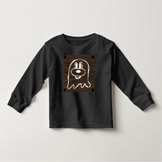 Wooden Panel 鬼 鬼 Toddler Long Sleeve T-Shirt 3