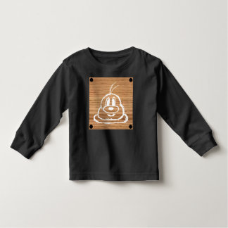 Wooden Panel 鮑 鮑 Toddler Long Sleeve T-Shirt 1