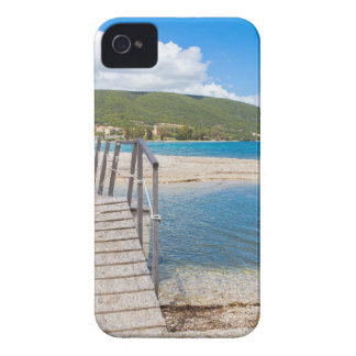 Wooden pedestrian bridge on greek beach Case-Mate iPhone 4 case