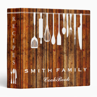 Wooden Personalized Family Recipe Cookbook Wooden 3 Ring Binder