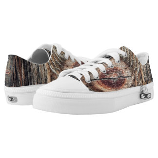 Wooden Plank Low-Top Sneakers