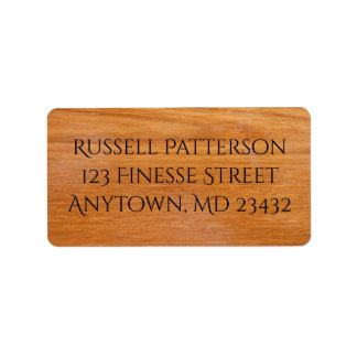 Wooden Planks Label