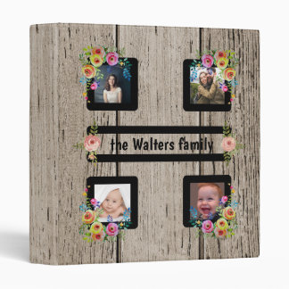Wooden Planks with Photos 3 Ring Binder
