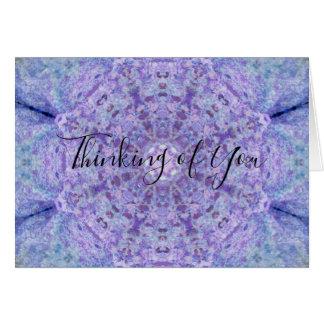 Wooden Purple Lace Notecard